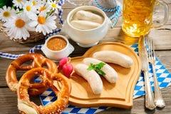 Bayerische Kalbfleischwurst Lizenzfreies Stockbild