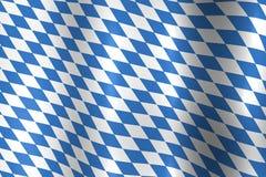 Bayerische Oktoberfest Markierungsfahne Stockfotografie