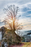 Bayerische Vorfrühlings-Landschaft Lizenzfreie Stockbilder