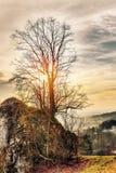 Bayerische Vorfrühlings-Landschaft Stockfoto