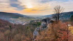 Bayerische Vorfrühlings-Landschaft Lizenzfreie Stockfotografie