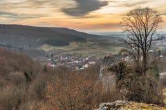 Bayerische Vorfrühlings-Landschaft Lizenzfreies Stockfoto