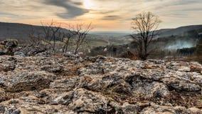 Bayerische Vorfrühlings-Landschaft Stockbild