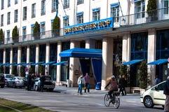 bayerischer hof旅馆慕尼黑 库存图片