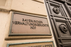 Bayerischer Verwaltungsgerichtshof Royalty Free Stock Photography