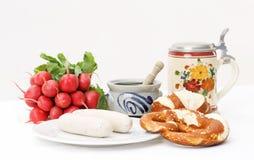 Bayerisches Frühstück Stockfoto