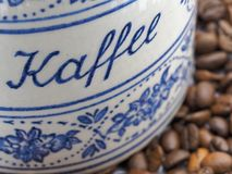 Bayerisches Kaffeeglas der Weinlese Stockfoto
