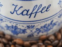 Bayerisches Kaffeeglas der Weinlese Stockbild