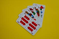 Bayerisches Kartenspiel Schafskopf-Herz Stockbild