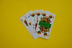 Bayerisches Kartenspiel Schafskopf Shell Lizenzfreies Stockbild