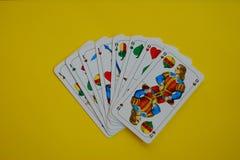 Bayerisches Kartenspiel Schafskopf Sie Stockbild