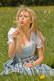 Bayerisches Mädchen nel der Wiese Fotografia Stock