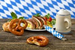 Bayerisches Mittagessen Lizenzfreie Stockfotos