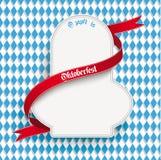 Bayerisches Oktoberfest-Flieger-Emblem Lizenzfreie Stockbilder