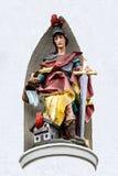 Bayern, Deutschland Bildhauerische Zahl des mittelalterlichen Ritters Stockbilder