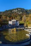 Bayern, Deutschland - 15. Oktober 2017: Linderhof-Palast 1863-188 Stockfoto