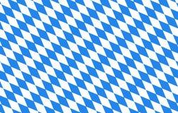 Bayern diamonds blue background Oktoberfest. Bavarian Flag  blue white Royalty Free Stock Image