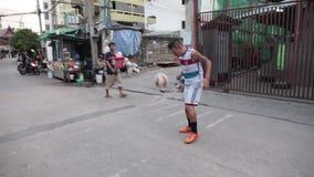 Bayern fan in Bangkok stock video