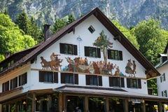 Bayern hus i Schwangau Arkivfoto