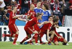 Bayern München gegen Chelsea FC UEFA-CL Schluss lizenzfreie stockfotos