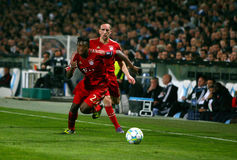 Bayern Munchen's David Alaba and Franck Ribery Royalty Free Stock Images