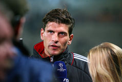Bayern Munchen's Mario Gomez Royalty Free Stock Photo
