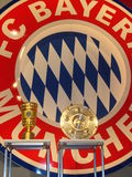 Bayern Munich Logo and trophies Royalty Free Stock Images