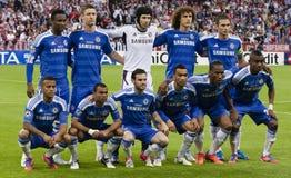 Bayern Munich vs. Chelsea FC UEFA CL Final. MUNICH, May 19 - Team of Chelsea: John Obi Mikel, Gary Cahill, Petr Cech, David Luiz, Frank Lampard; Ryan Bertrand stock photos