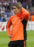 Bayern Munich vs. Chelsea FC UEFA CL Final. MUNICH, May 19 - Fernando Torres of Chelsea before FC Bayern Munich vs. Chelsea FC UEFA Champions League Final game Royalty Free Stock Photo