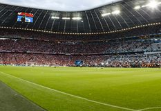Bayern Munich vs. Chelsea FC UEFA CL Final. MUNICH, May 19 - The inside of Allianz Arenabefore FC Bayern Munich vs. Chelsea FC UEFA Champions League Final game royalty free stock photography