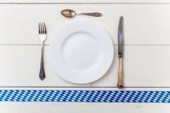 Bayern Oktoberfest-Hintergrund Tischbesteck Lizenzfreie Stockfotografie