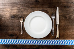 Bayern Oktoberfest-Hintergrund Tischbesteck Lizenzfreies Stockbild