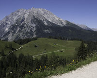 Bayern path. Hiking through the Bavarian Alps of Southern Germany stock image