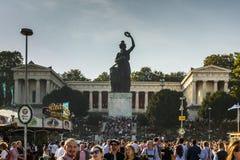 Bayern staty på Theresenwiese under Oktoberfest i Munich, 20 Fotografering för Bildbyråer
