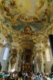 Bayern Tyskland - Oktober 15, 2017: Inre av pilgrimsfärden Chur Royaltyfria Foton