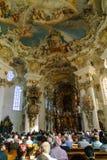 Bayern Tyskland - Oktober 15, 2017: Inre av pilgrimsfärden Chur Arkivbild