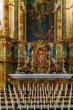 Bayern Tyskland - Oktober 15, 2017: Inre av pilgrimsfärden Chur Royaltyfri Bild