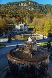 Bayern Tyskland - Oktober 15, 2017: Linderhof slott 1863-188 Royaltyfria Foton