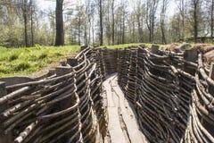 Bayernwald掘沟第一次世界大战富兰德比利时 库存图片