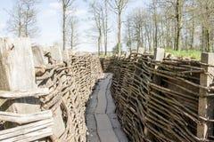 Bayernwald掘沟第一次世界大战富兰德比利时 库存照片