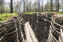 Bayernwald掘沟第一次世界大战富兰德比利时 免版税图库摄影