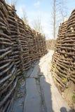 Bayernwald okopów wojna światowa jeden Flanders Belgia zdjęcie stock