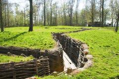Bayernwald okopów wojna światowa jeden Flanders Belgia zdjęcia royalty free