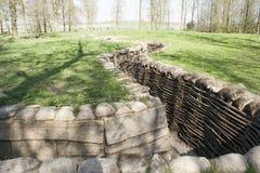 Bayernwald Trenches la Première Guerre Mondiale Flandre Belgique photographie stock