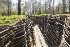 Bayernwald Trenches world war one flanders Belgium Stock Images