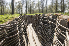 The Bayernwald Trenches world war one flanders Belgium. Bayernwald Trenches world war one flanders Belgium Royalty Free Stock Photography