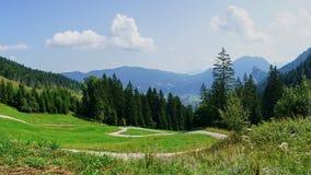 Bayersk alpin bygd Panorams arkivbild