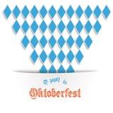 Bayersk Oktoberfest räkningsdesign Fotografering för Bildbyråer