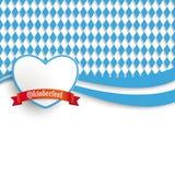 Bayersk Oktoberfest reklambladhjärta Arkivfoto