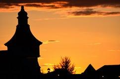 Bayersk solnedgång Arkivbilder